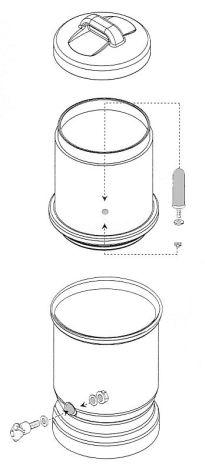 LP5 Wasserfilter Schema der Komponenten