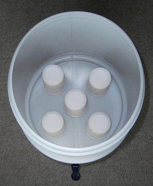 LP5 Wasserfilter System Aufsicht Behälter oben offen