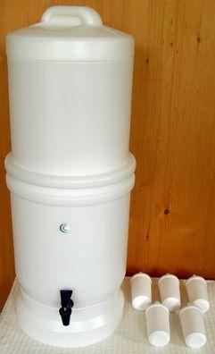 LP5 Wasserfilter System mit 5 Keramikfiltern